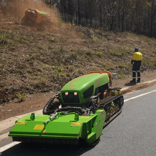 Roadside mowing safety